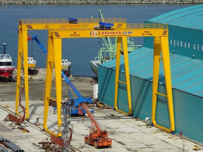 Double Girder Gantry Portal Crane, Double Beam Gantry Crane
